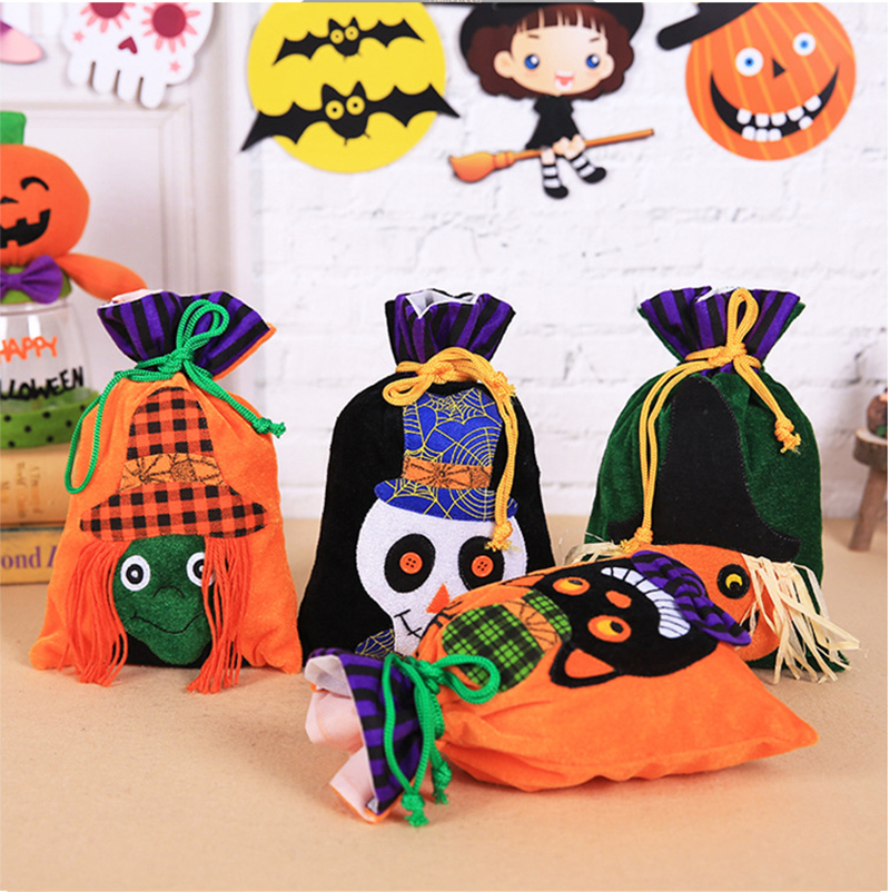 Halloween Decorations Merry Christmas Xmas Gift Bags Pumpkin Candy Bags Happy New Year 2019 Halloween Kids Packing Bag Navidad