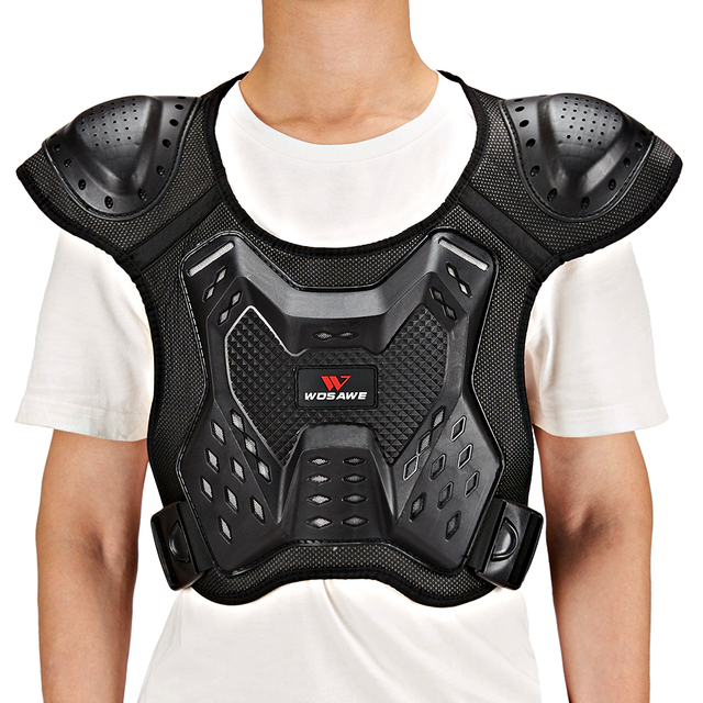 WOSAWE Motorcycle Armor Vest Chest Back Support Body Protective Gear Snowboard Motocross Racing Skateboard Armor Adult Kids 5