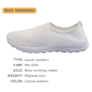 Image 3 - Jackherelook Cartoon Nurse Printing Women Flats Shoes Girls Nursing Shoe Work Walking Sneakers Female Air Mesh Shoes Light Weigt