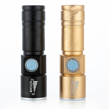 Mini USB Rechargeable Led FlashLight Torch 3 Modes Zoom Powerful LED Flash light Lanterna  for camping adventure cycling