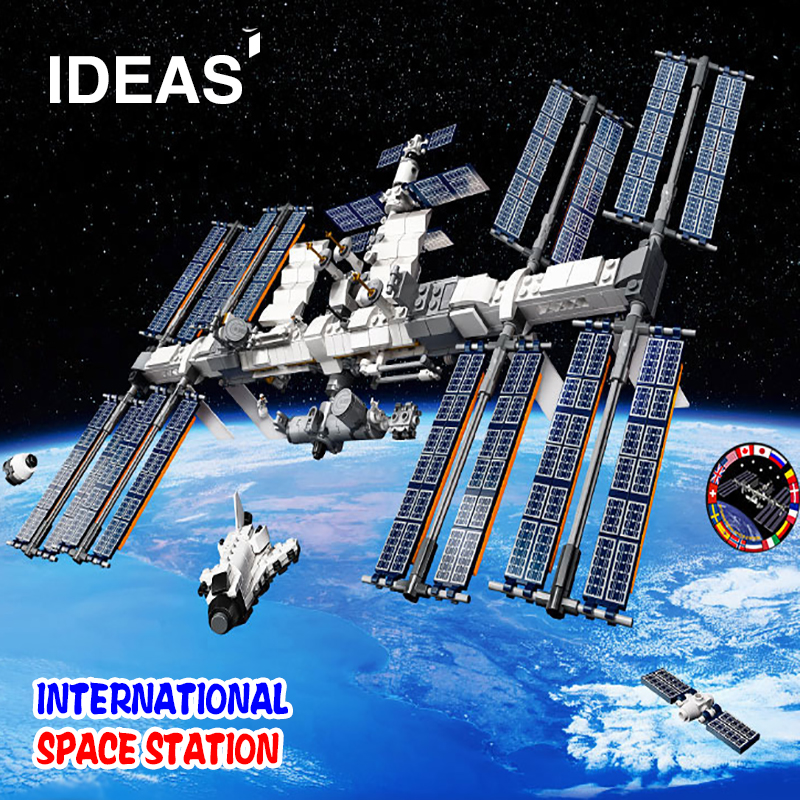 NEW 6004 IDEAS International Space Station Building Bricks Bricks Compatible ISS 21321 Educational Toy Children Birthday Gifts