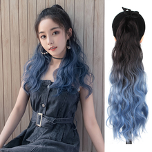 Wavy Ponytail Hair-Extension-Type Synthetic Long-Hair Black Lace Tie Liangmo Blue Previous