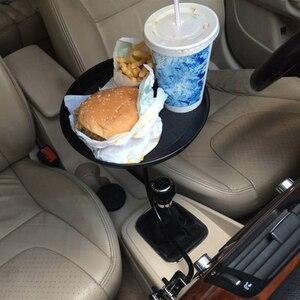 Image 3 - Araba yiyecek tepsisi kelepçe braketi katlanır yemek masası içecek tutucu araba palet arka koltuk su araba bardak tutucu araba döner tepsi