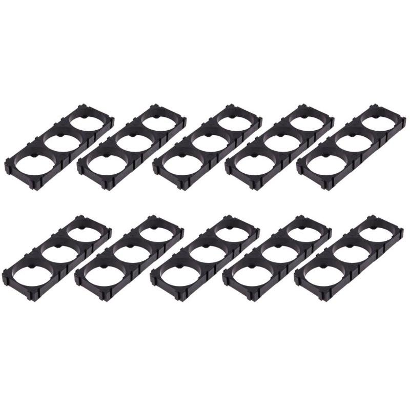 10pcs/lot <font><b>32650</b></font> 3x <font><b>Battery</b></font> <font><b>Holder</b></font> <font><b>Bracket</b></font> Cell Safety Anti Vibration Plasti image