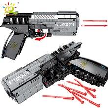 HUIQIBAO 431PCS Wandering Earth Signal Gun Technical Building Blocks City Military Brick Shooting Educational Toys For Children
