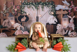 Image 4 - Mehofond Photography Background Vintage Wood Spring Happy Easter Rabbit Baby Shower Birthday Party Portrait Photo Backdrop Props