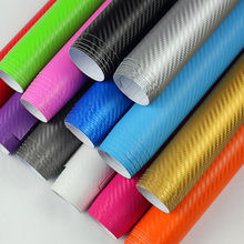 4 Sizes 3D Carbon Fiber Vinyl Film Car Stickers Waterproof Car Styling Wrap Auto Vehicle Detailing Car accessories Motorcycle(China)