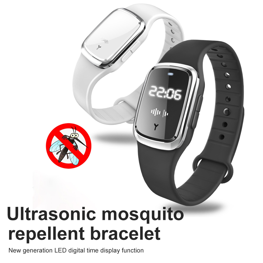 Anti Mosquito Insect Perish Watch Ultrasonic Mosquito Repellent Bracelet Capsule Insect Bugs Mosquito Repellent Wristband