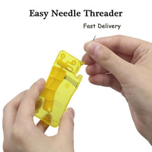 Sewing Needle Threader Thimble Thread Tool Threader Elderly Guide Needle Easy Device Automatic Thread Sewing Supplies