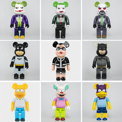 Bearbricklys Trend 28cm 400% Bear&bricklys Building Blocks Bear Toy Anime Action Figures Pop Kits Paint Dolls Kids Toys