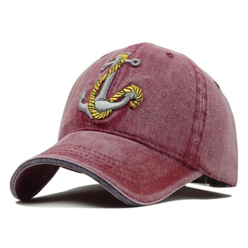 غسلها قيعة بيسبول صغيرة عارضة مرساة Snapback قبعة الرجال النساء الرجعية الصيف الورك هوب جاهزة قبعات Casquette غورا هومبر العظام