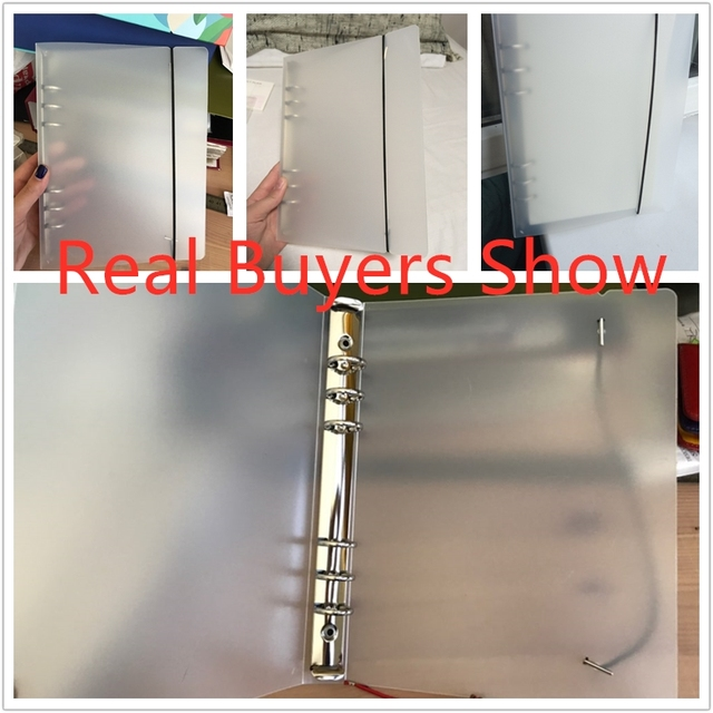 Coloffice Creative PP Plastic Folder Frosted Filing Product Notebook Students Stationery Book Binder Folder  Office Supplies 1PC 6
