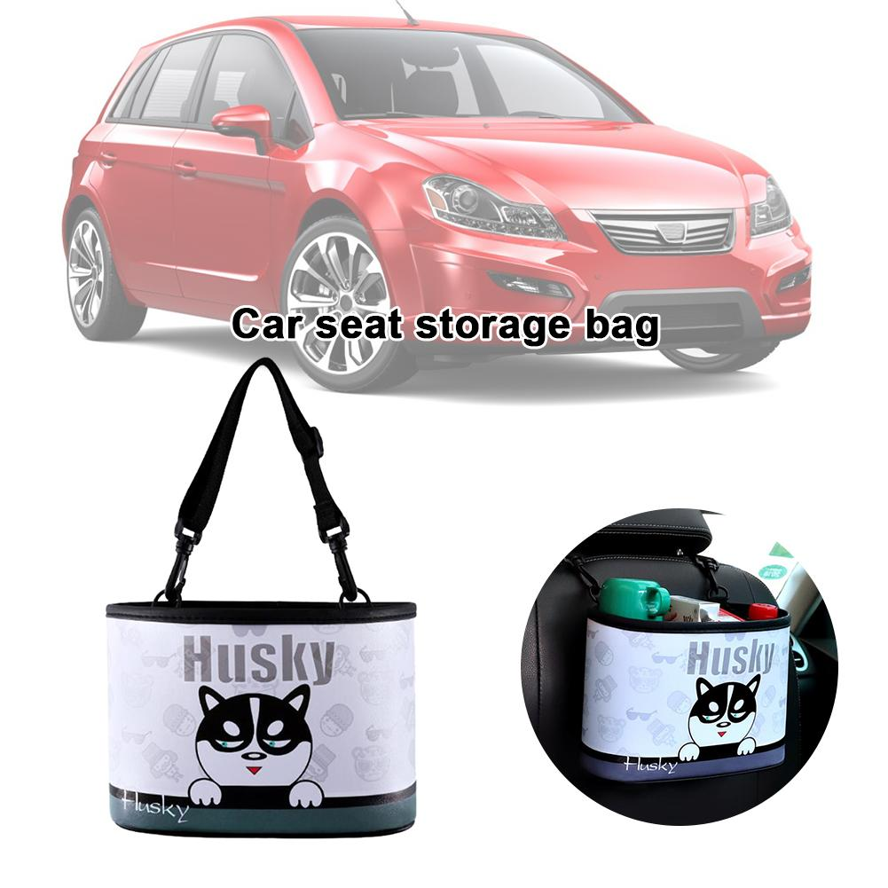 Storage-Bag Car-Seat Multi-Function Portable And Cartoon PU Trash-Can Wear-Resistant