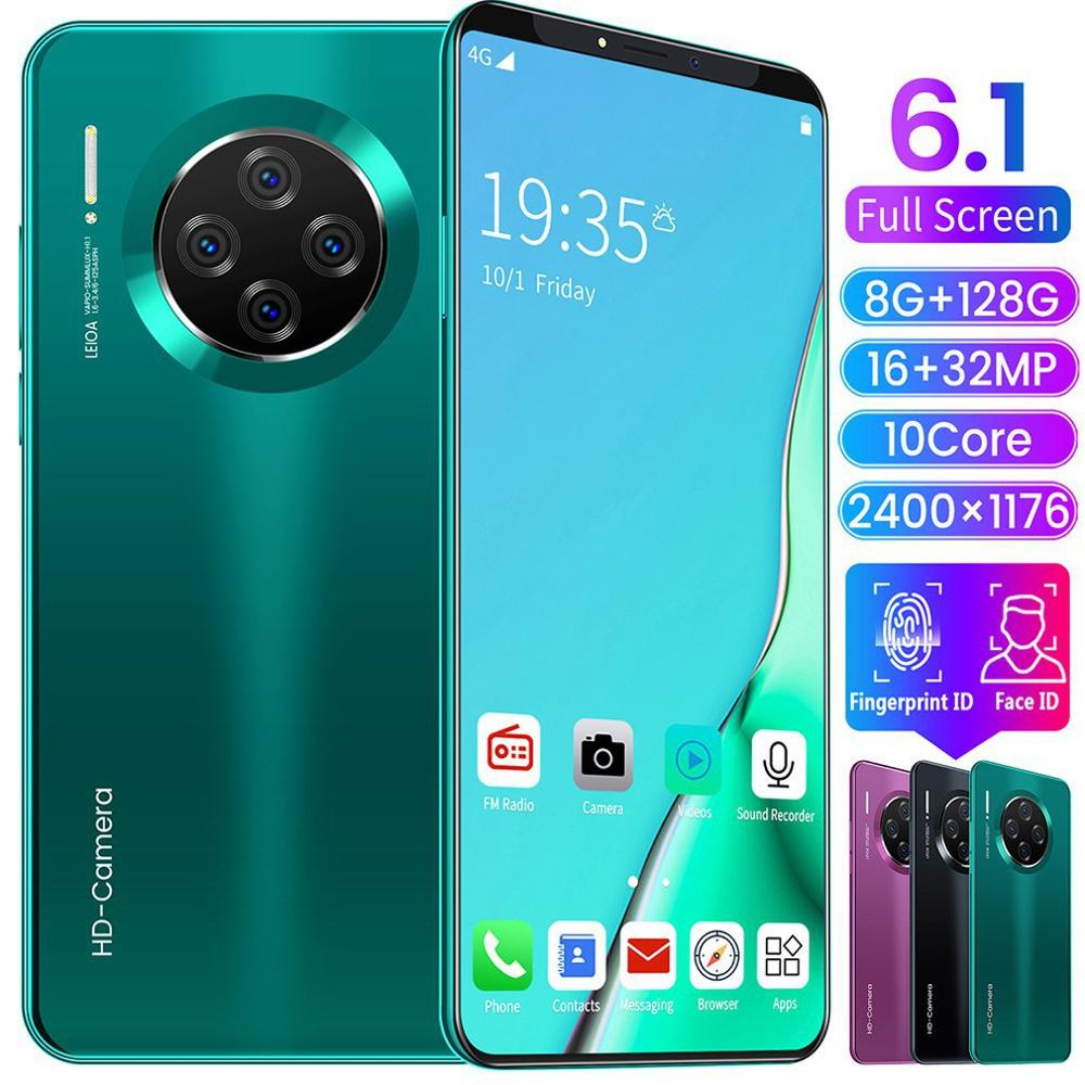 Telefoon Android Smartphone Nieuwe Voor Mate33 Pro Grote Screen Telefoon Android Hd Display Hd Camera Stroomlijnen Mode Vorm Mobiele Telefoon|Portofoon|   - AliExpress - cellphone