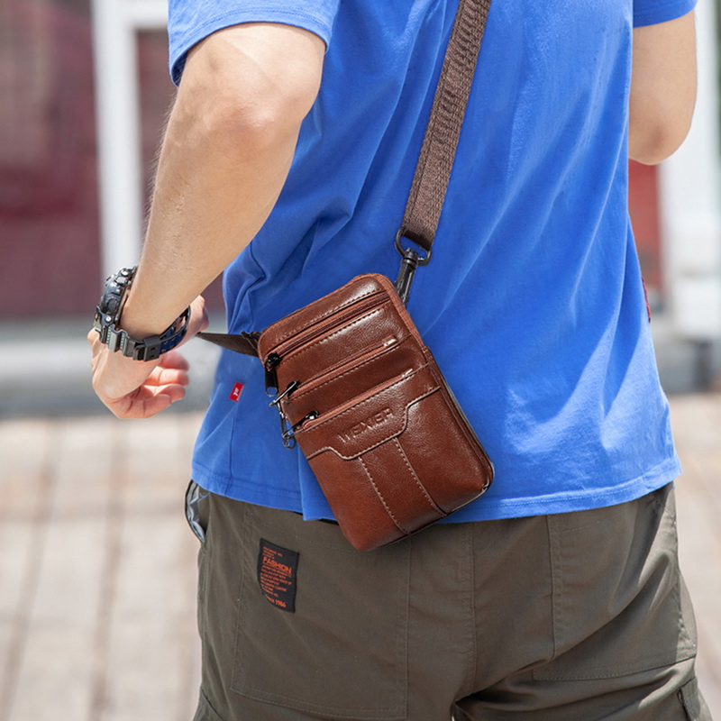 Litthing Men's Handbag Single Shoulder Bag Waist Bag Small Straddle Bag Sports And Leisure Shopping Bag Phone Bag