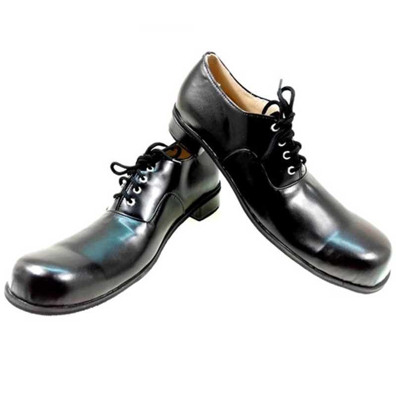33cm black joker shoes for men clown shoes halloween cosplay accessories club party stage performance