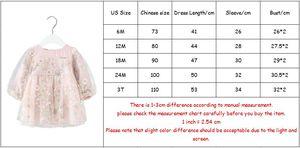 Image 5 - เสื้อผ้าเด็กทารกฤดูใบไม้ร่วงแขนยาวชุดเด็กทารกเด็กดอกไม้ชุดปักเย็บปักถักร้อยเจ้าหญิงแรกเกิดสวมใส่