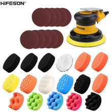 HIFESON 5 Inch 125MM Non Vacuum Pneumatic Air Sander Polishing Machine for Car Paint Care and Rust Removal