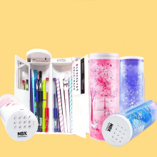 NBX  Pencil Cases Password Cartoon Pattern Pen Holder Large Capacity Stationery Box Coded Lock Home Office School Storage Bag