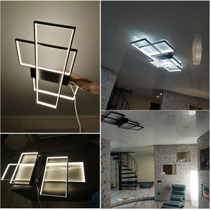 Image 5 - LED Chandelier For Living room Dining room Bedroom Black&White Modern Led Ceiling Chandelier Indoor Lighting Lustre 220V 110V