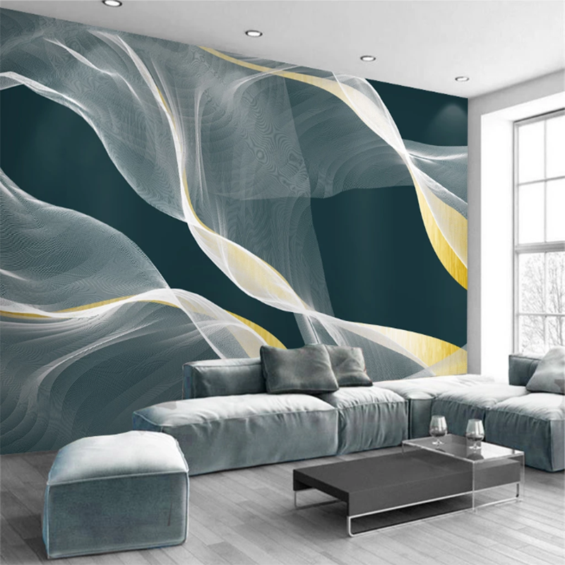 Seamless Wallpaper Modern Abstract Ink Line Art Tv Sofa Background Wall Painting