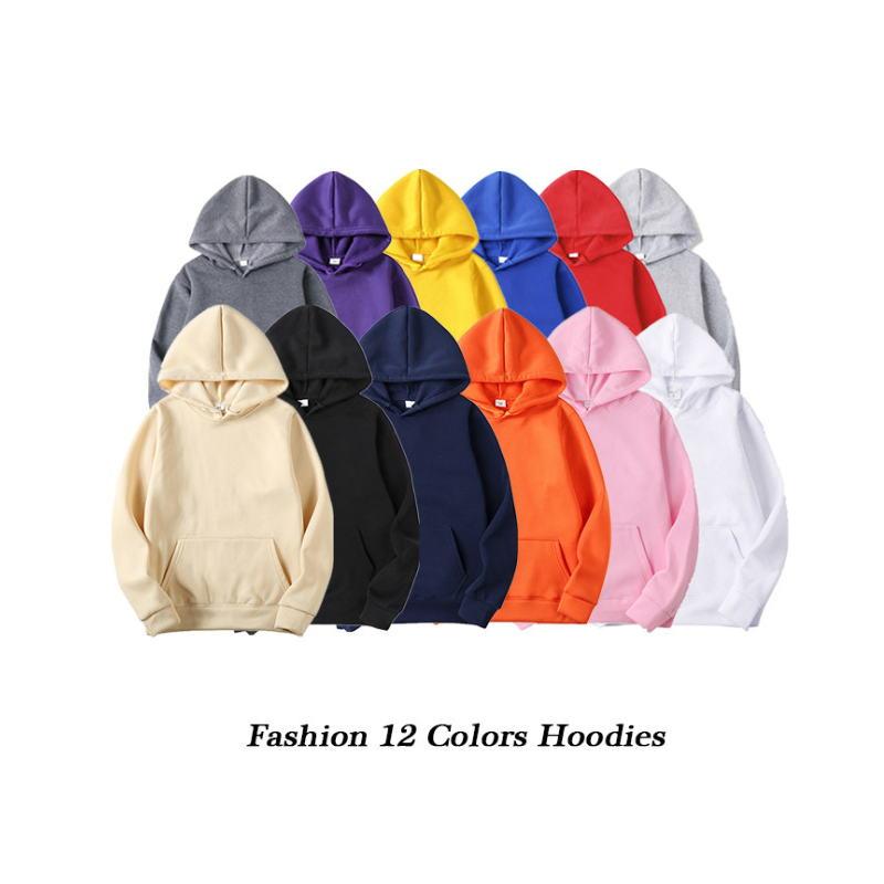 Fashion Brand Men's Hoodies 2019 Spring Autumn Male Casual Hoodies Sweatshirts Men's Solid Color Hoodies Sweatshirt Tops 4.7