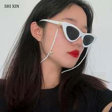 Shixin fashion small beads glasses chain for women rainbow/white/black