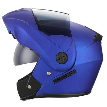 2 Gifts Unisex Racing Motorcycle Helmets Modular Dual Lens Motocross Helmet Full Face Safe Helmet Flip Up Cascos Para Moto kask 11