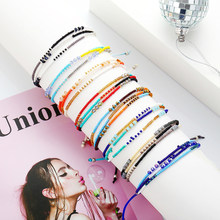 DoreenBeads Fashion Braided Bracelets For Women Men Jewelry Multicolor Adjustable Bracelet Charms Gift 26.4cm long, 1 Piece(China)