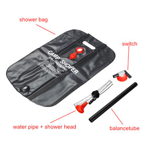 Image 5 - Camping Shower Bag 5 Gallon/20L Solar Heating Bag Portable Washer Water Storage Bathing Bag for Car Outdoor Hiking Picnic