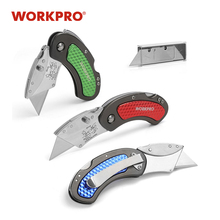 WORKPRO 3PC Mini Knives Utility Knife Aluminum Handle Folding Knife with 10pc Extra Blades