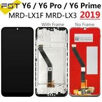لهواوي Y6 2019 شاشة LCD + شاشة تعمل باللمس محول الأرقام استبدال لهواوي Y6 برو 2019 Y6 Prime 2019 LCD + الإطار ل الشرف 8A