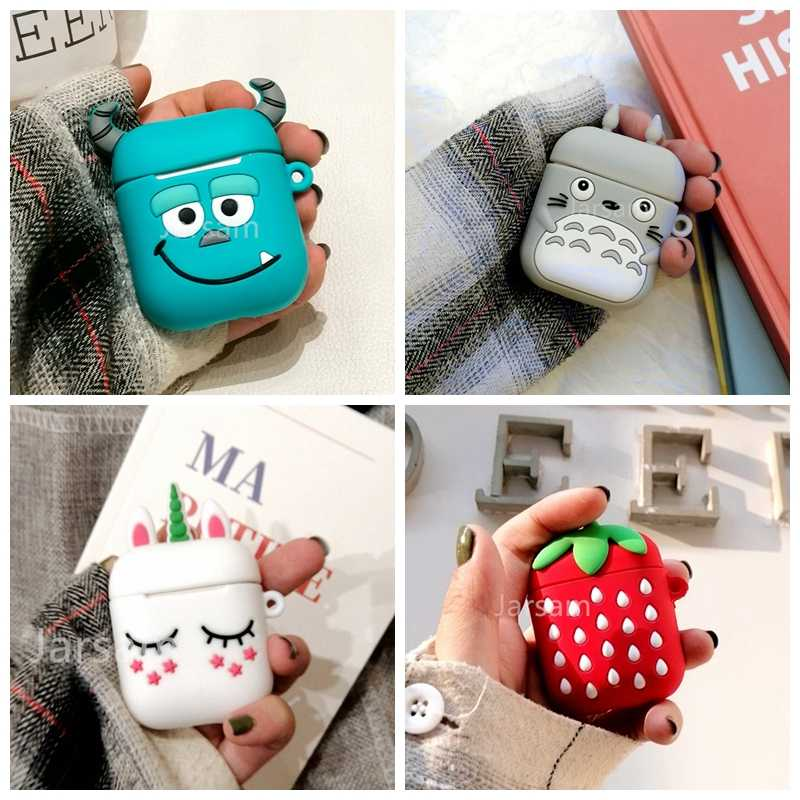 Cartoon Wireless Bluetooth Case For Apple AirPods Silicone Charging Headphones Cases For Airpods 2 Protective Cover