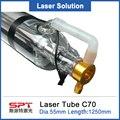 SPT 70 Вт 65 Вт 75 Вт 1250 мм Co2 лазерная трубка для Co2 лазерный гравер машина деревянная посылка