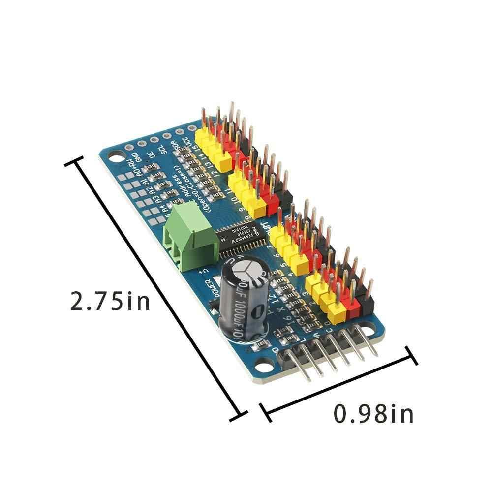 5 piezas Pca9685 16 canales 12 bits Pwm Servo controlador placa Iic interfaz Pca9685 módulo controlador para Arduino Raspberry Pi