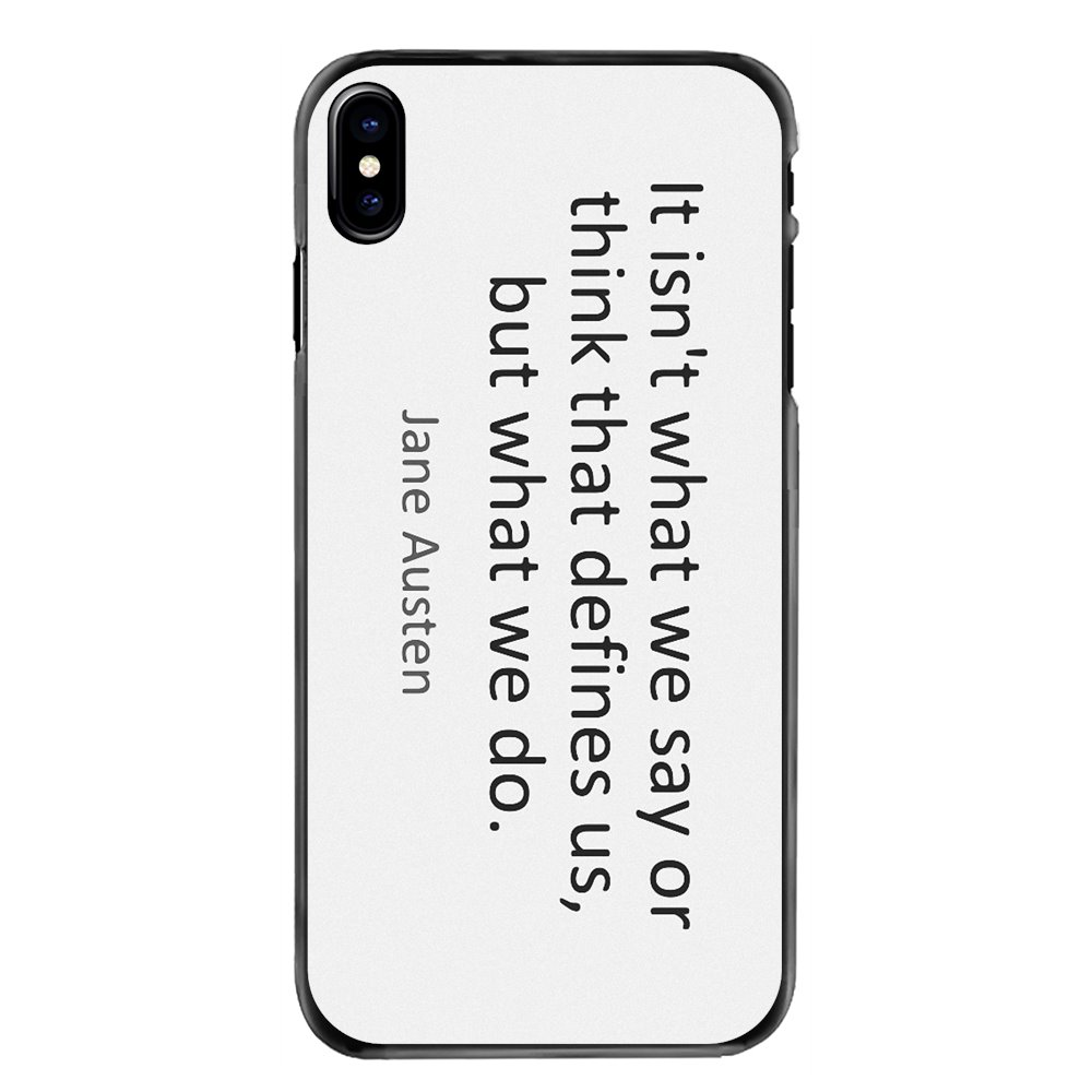 It isn't what we say or think that defines Phone Bag Case For iPhone 11 Pro iPod Touch 4 4S 5 5S 5C SE 6 6S 7 8 Plus X XR XS MAX image