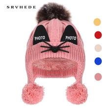 Knit Hat Earmuffs Winter Boys Velvet-Cap Warm Girls Plus Fashion Children's Protection