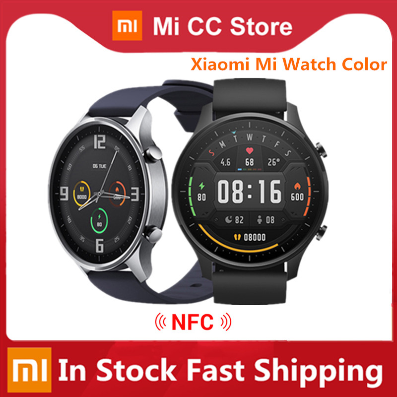 Original Xiaomi Mi Uhr Farbe 1.39 AMOLED GPS Fitness Tracker 5ATM Wasserdichte Sport Heart Rate Monitor Mi Smart Uhr