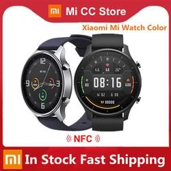 Оригинальные цветные часы Xiaomi Mi 1,39 дюйма AMOLED GPS фитнес-трекер 5ATM водонепроницаемый спортивный пульсометр Смарт-часы Mi