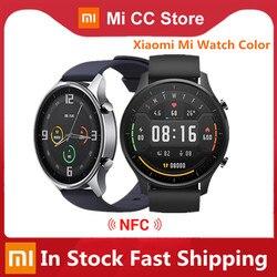Original Xiaomi Mi Watch Color 1.39'' AMOLED GPS Fitness Tracker 5ATM Waterproof Sport Heart Rate Monitor Mi Smart Watch