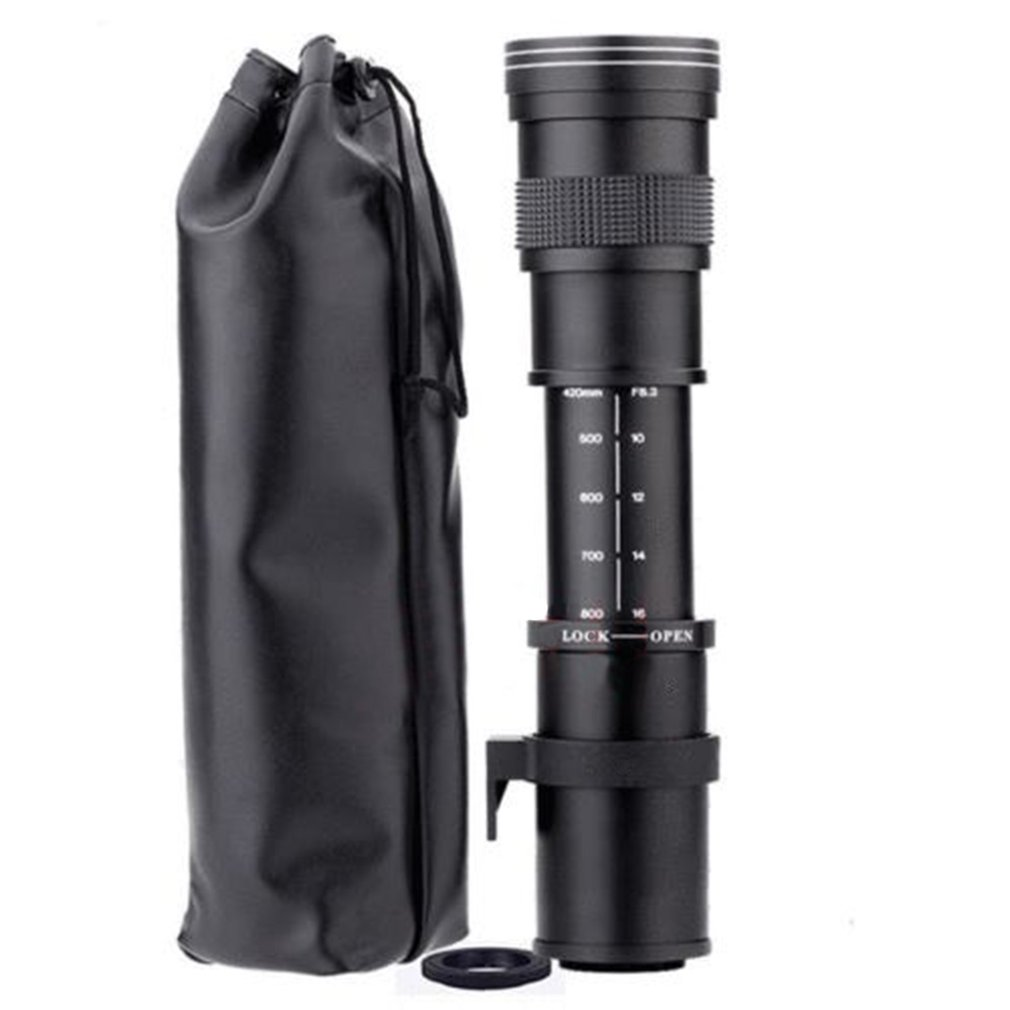 420-800mm F/8.3-16 Telephoto Zoom Lens for Nikon DSLR Camera D5100 D5300 D5200 D7500 D3300 D3400 D3200 D90 D7200 D5600 D3X image