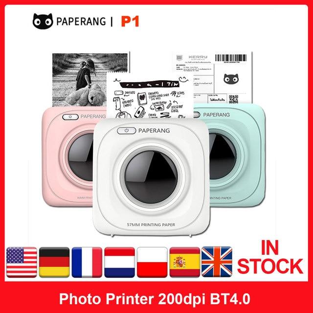 Original Xiaomi PAPERANG P1 Pocket Mini Photo Printer 200dpi BT4.0 Phone Connection Wireless Portable Thermal Printer Clearly 1