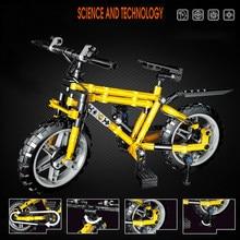 235 pièces ville voiture jouet vélo modèle blocs de construction enfant bricolage course cyclisme vélo briques éducatif assemblage jouet brique pour les enfants