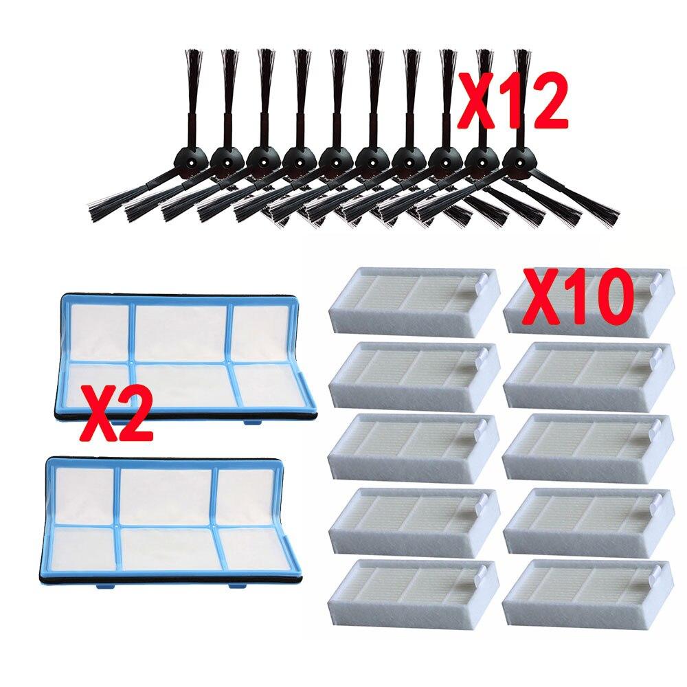 Filtre Hepa efficace de brosse latérale de filtre de poussière primaire pour les pièces daspirateur de robot dilife v5 v5s V3 V3s v5pro V50 V55 x5
