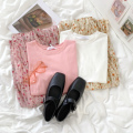 Минималистичная летняя розовая облегающая футболка Rena с круглым вырезом для девушек, универсальная облегающая футболка с коротким рукавом...