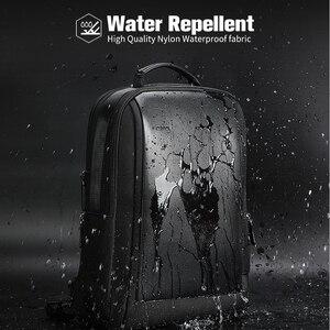 Image 4 - BOPAIกระเป๋าเป้สะพายหลังชาย15.6นิ้วแล็ปท็อปกระเป๋าเป้สะพายหลังสีดำขยายMochilaสำหรับผู้ชายUSBชาร์จกระเป๋าเดินทางNylon Rucksacks