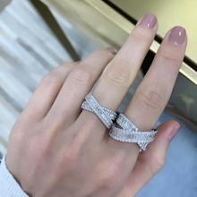 silver cz cross ring…