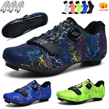 Road Cycling Shoes Men 2021 New Flat Self-Locking SPD Bicycle Sapatilha CiclismoMTB Outdoor Sports Shoes Mountain Bike Shoes Men