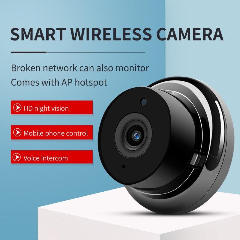 Wifi мини ip-камера, умная двухсторонняя аудио SD карта, облачное хранилище для домашней безопасности, Беспроводная мини-камера наблюдения