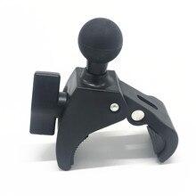 Morsetto per manubrio per montaggio su guida per manubrio per bicicletta da moto con attacco a sfera da 1 pollice per videocamera Gopro